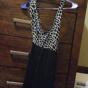 Black and white A/X dress
